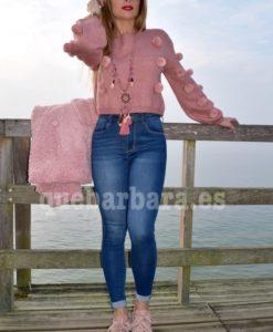 jersey pompones rosa que barbara