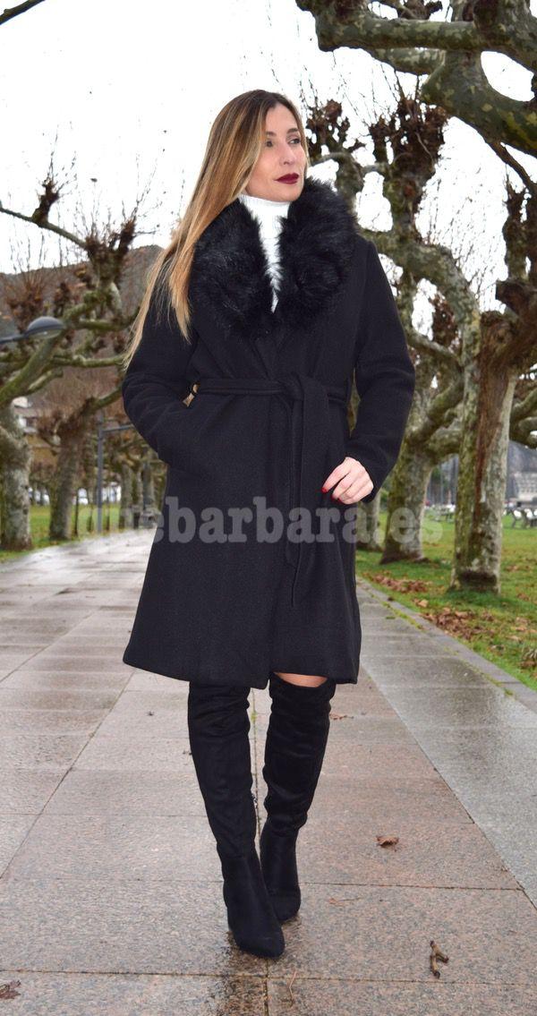 aba93d74a56 abrigo negro elegante que barbara
