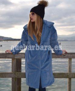 abrigo pelo azul que barbara