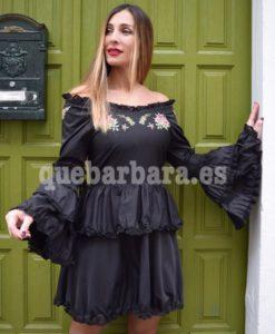 vestido negro que barbara