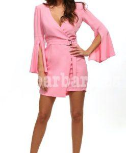 vestido ceremonia rosa que barbara