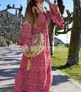 vestido largo seda folk que barbara