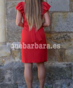 vestido volante rojo que barbara