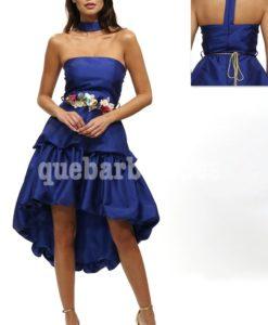 vestido ceremonia azul que barbara