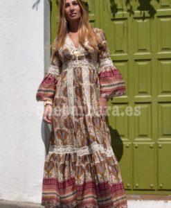 vestido hippie seda que barbara