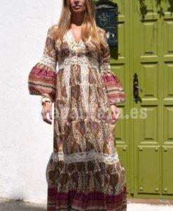 vestido largo seda que barbara