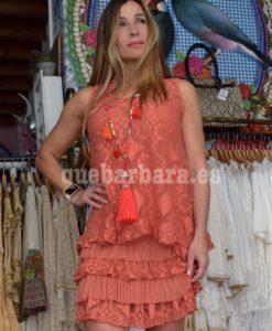 vestido naranja que barbara