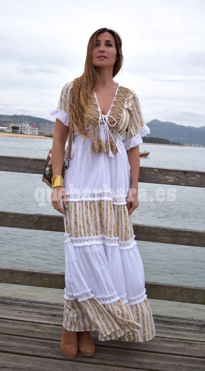 df23b1c90f vestido largo pasamaneria que barbara