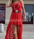 falda encaje rojo que barbara