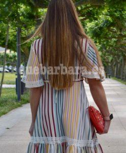 vestido rayas que barbara