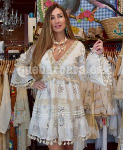 vestido blanco algodon que barbara
