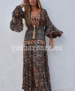 vestido largo seda quebarbara