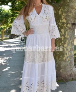 vestido largo blanco que barbara
