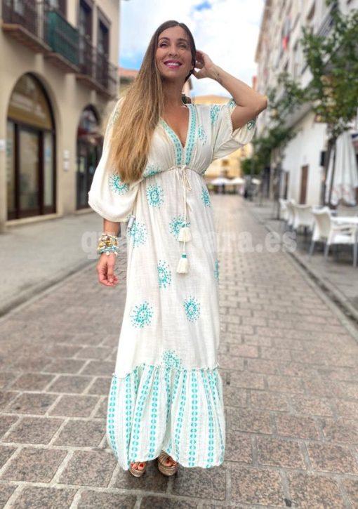 vestido largo bordados que barbara