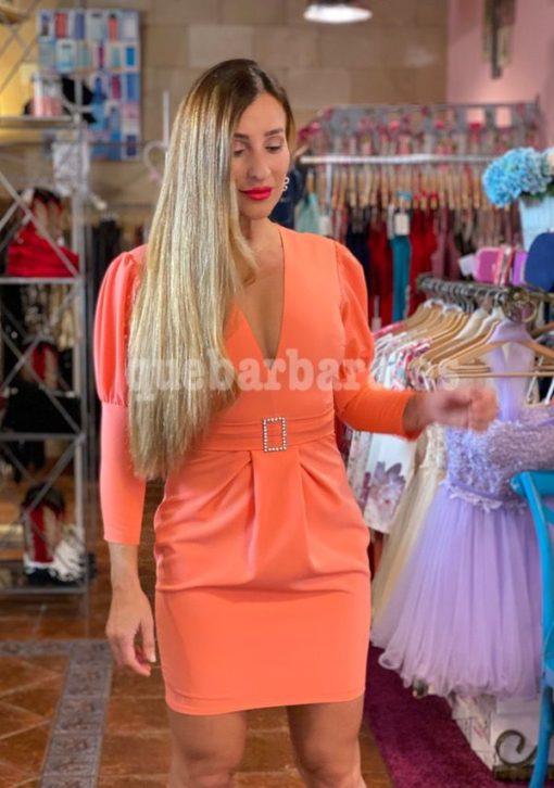 vestido ceremonia mandarina que barbara
