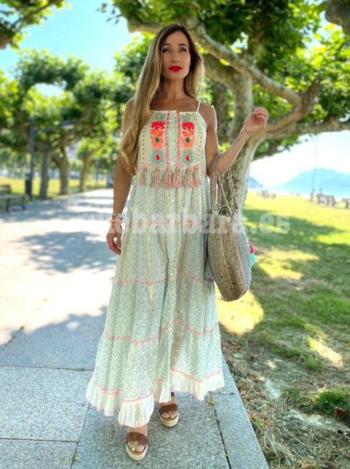 vestido largo hippie que barbara