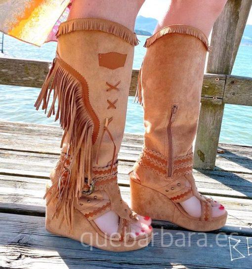 bota sandalia que barbara