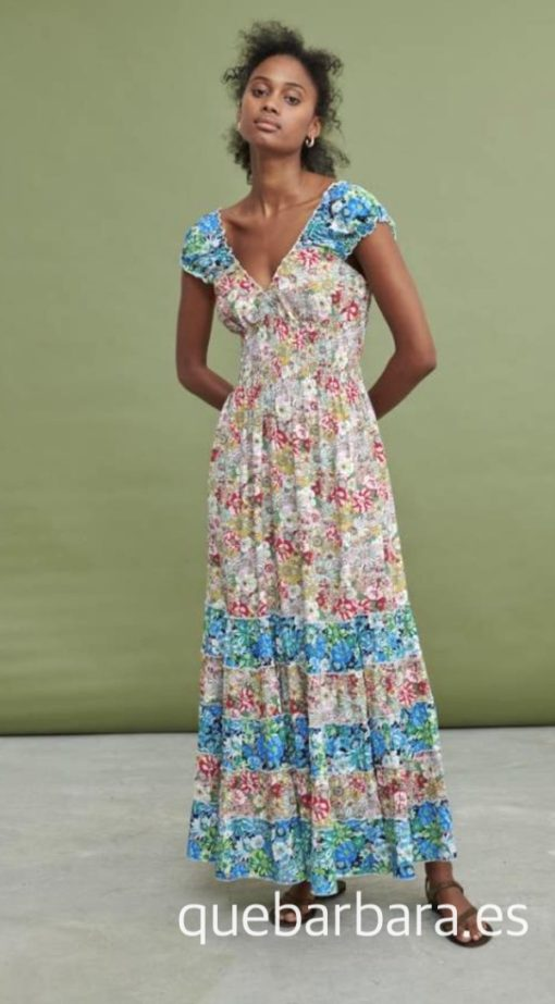 vestido sin mangas flores que barbara